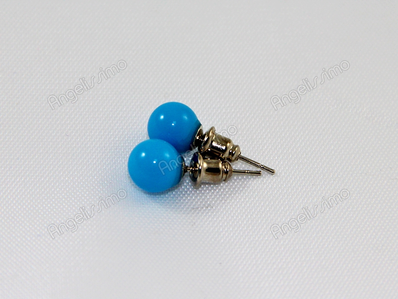 Серьги из голубого пластика