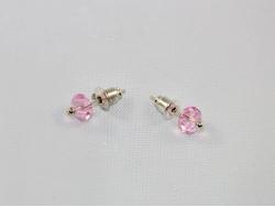 Серьги из розового фианита