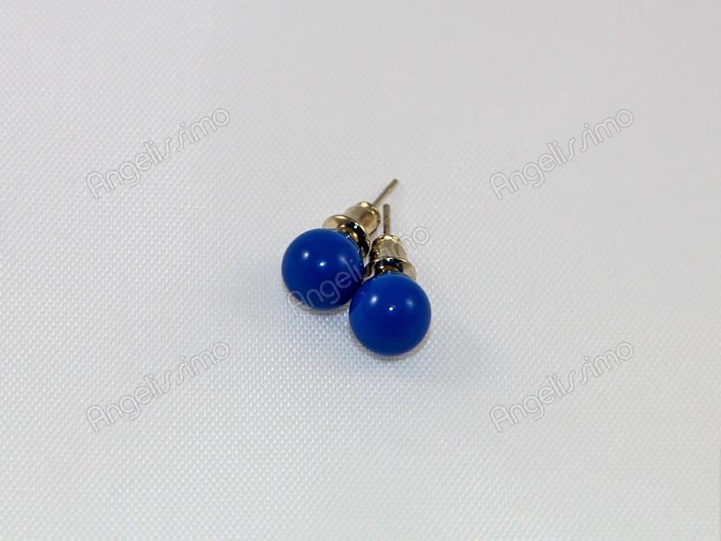 Серьги из синего пластика