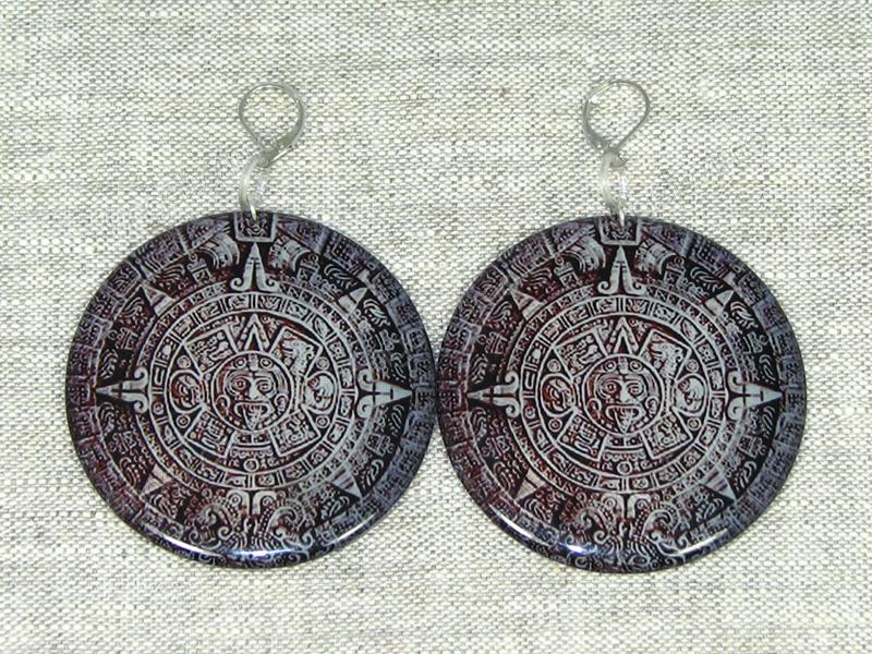 """Серьги """"Камень ацтеков"""" от firMaSoni"""